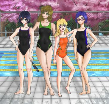 Cute Gay Swimmers as Cute Lesbian Swimmers by lollipop-socks