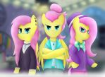 3 shades of Fluttershy by BerryVeloce