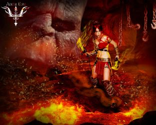 She Kratos god of war cosplay butterfly by bandro