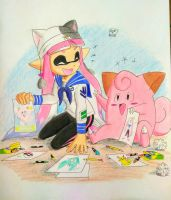 Lily and Clefairy