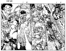 SUPER NHS pg 8-9 double page spread by Dogsupreme