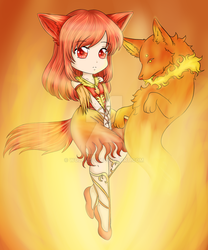 Elemental Chibi: Fire by wolf13sd