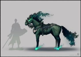 Monster Concept - Fae Horse (DnD) by LSDrake
