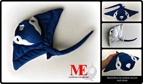 Manta Ray Baby Beanie Plush by MayEsdot