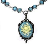 Victorian Blue Cameo necklace by CatherinetteRings