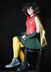 Carrie Kelley inspired Robin On a Stool 2 by Vpoolephotos