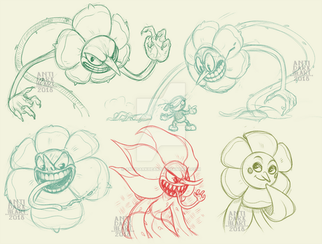 Cagney Sketches by Anti-Dark-Heart