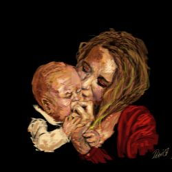 Mother and child by splatteredvenue