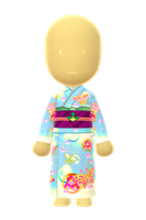 Ladies Fancy Kimono (Butterflies) by Rosemoji