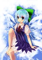 Toho Cirno Ice Fairy by Halplus