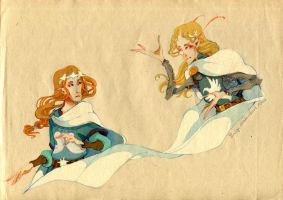 Earendil and Eonwe by faQy