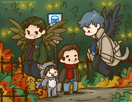SPN - The Angel's are Watching by caycowa