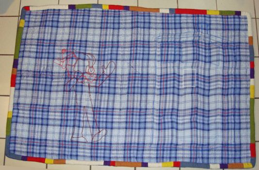 Doctor Who quilt back by wulfae