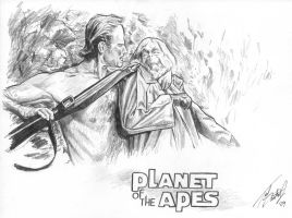 Taylor and Dr. Zaius by tdastick