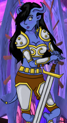 Draenei Warrior - 'Finished' by aviary