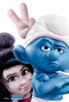 The smurfs 2 poster : Vexy and Grouchy Smurf by LittleLavigne