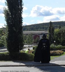 Darth Vader on a sunny Day by Nordic-Dragon