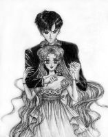 Sailor Moon and Tuxedo Mask by JessicaEdwards