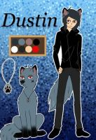 Anime oc-Dustin  by Pinkwolfly
