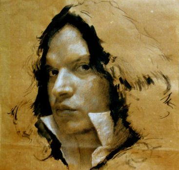Portrait Study for Painting by SILENTJUSTICE