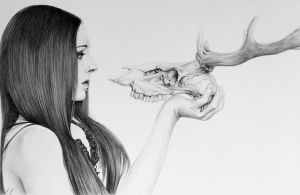 Skull Beauty (Graphite) by LonnyClouser