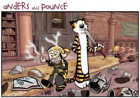 Anders and Pounce by MoonEcho