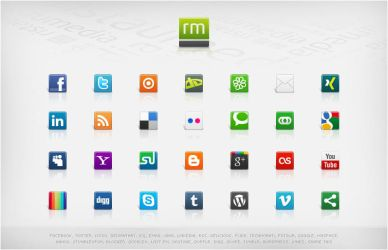 Social Media Icons - Volume 3 by ristaumedia