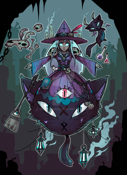 Witch Girl by dragu-magu