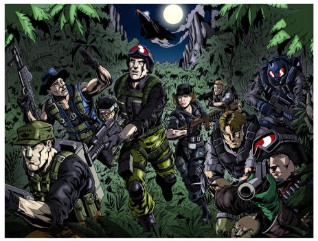 Official GI Joe Con Night Force Lithograph Colours by palmaay