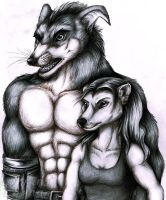Realistic Crunch and Tani by Lurking-Leanne