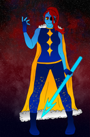 Outertale Undyne by Cabbt