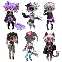 chibi commissions batch 07 by KuAdopts