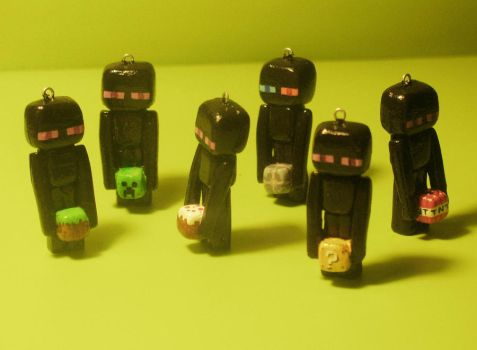 Revamped Endermen charms by zynwolf
