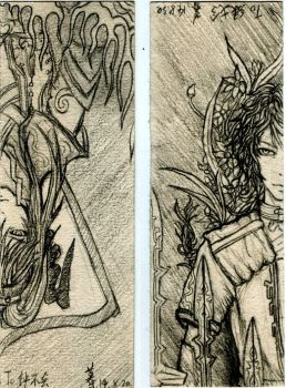 Drawings bookmarks to send my friends(ZhongHui) by zmwswez