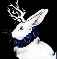 Jackalope, Mini painting by harusame