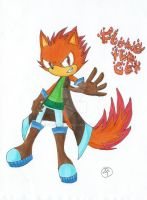Sonic Oc - Flame the Cat by Cooliberta