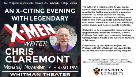 Chris Claremont X-Men Talk at Princeton by lawrencebrenner