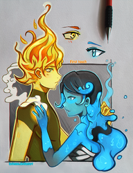 +Fire and Water+ by larienne