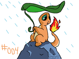 #004 Charmander by SaintsSister47