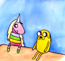 Jake and Lady Rainicorn by luartandcomics