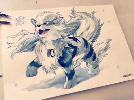 Ice Arcanine (Alola form) by Wallach1