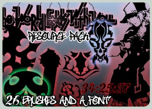 SKS-TWEWY Brush and Font Pack by Trigork