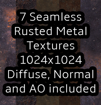 7 Seamless Rusted Metal Textures by celestialsunberry