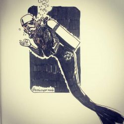 Mermaid Storm Trooper Diver by natasian