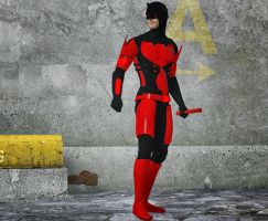 Daredevil armored 2nd skin textures 4 M4 by hiram67