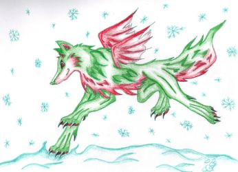 Christmas Wolf by The-Silver-Ninja