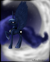 Luna in the moon by Vaileaa