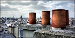 Roofs of Paris - 3 by SUDOR