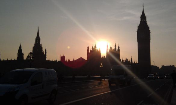 Sunset in London by Kait-The-Fearless