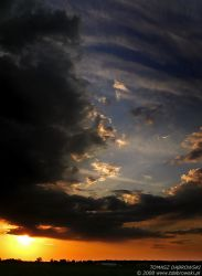 The Cloudy Sunset by Dhante